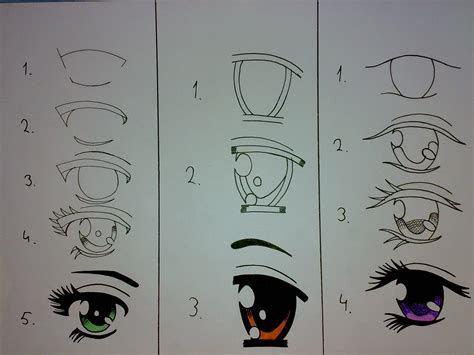 draw  anime eyes anime drawing ideas
