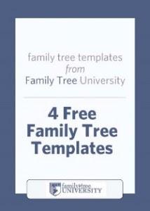 Free Family Tree Templates: 4 Free Family Tree Templates + Bonus Chart
