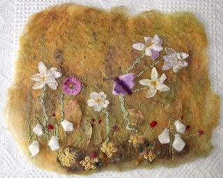 wet felted flowers instructions