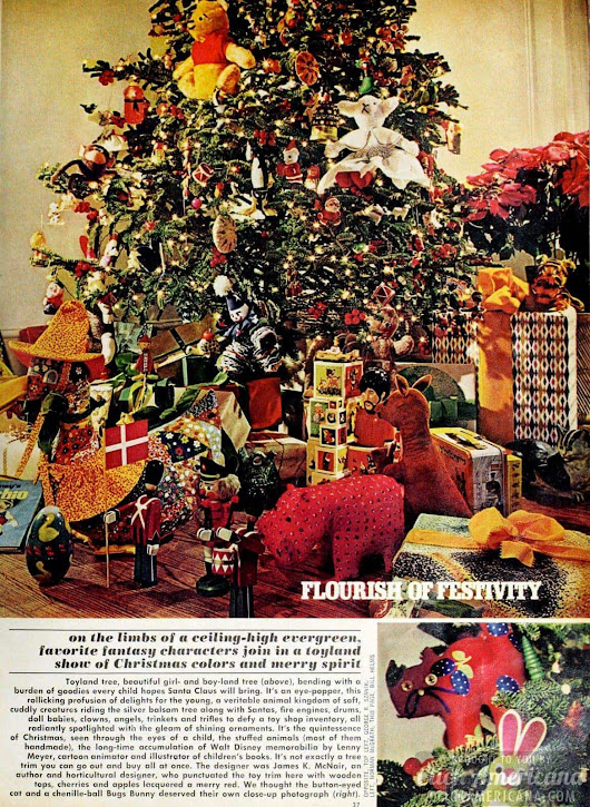 Flourishes of festivity: Vintage Christmas trees from 1974