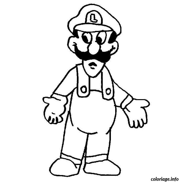 Coloriage Mario Luigi Jecoloriecom