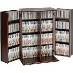 Prepac Locking Media Storage Cabinet With Shaker Doors, Espresso
