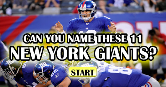 Can You Name These 11 New York Giants?