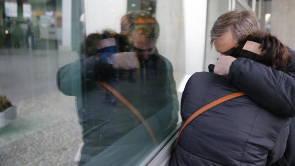 Dolor en el aeropuerto internacional de San Petersburgo. Foto: EFE