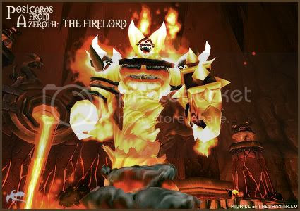 Postcards of Azeroth: The Firelord, by Rioriel Ail'thera of theshatar.eu