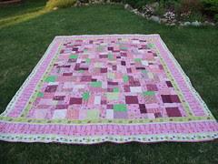Flamingo quilt 01