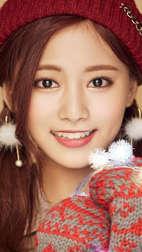 ho christmas girl  tzuyu happy wallpaper
