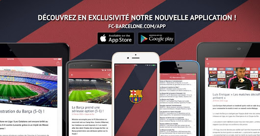 Suivez le Barça via nos applications mobiles !