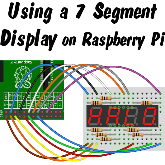 How to drive a 7 segment display directly on Raspberry Pi in Python