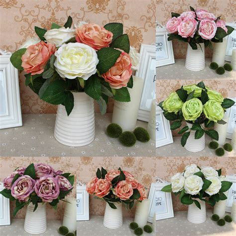 Silk Rose Centerpiece Bridal Wedding Party Flowers Floral