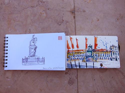 32nd World Sketchcrawl - Diogo & My sketch