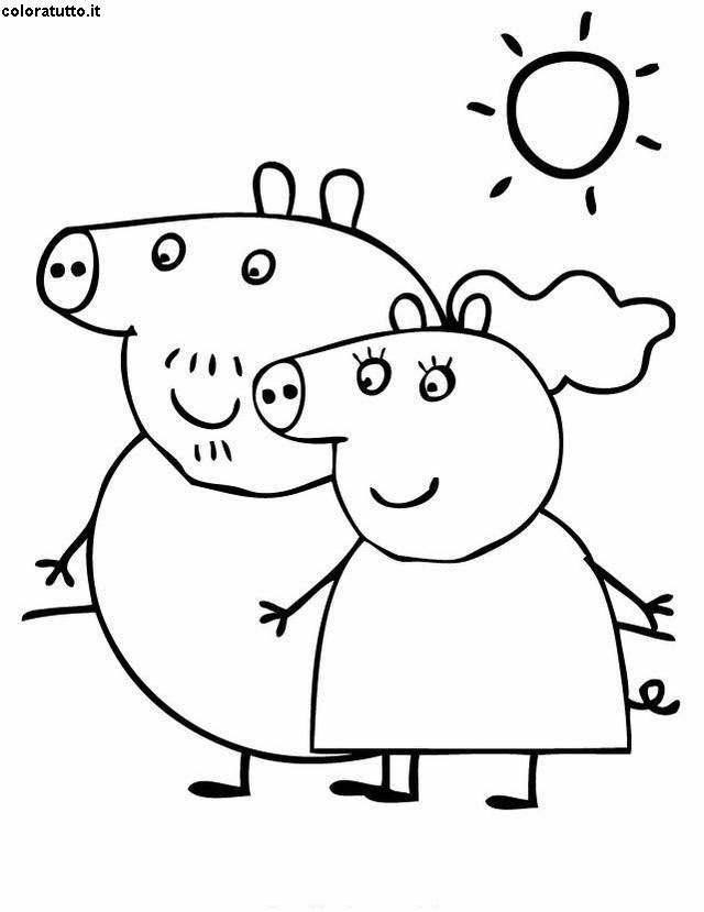 Peppa Pig Disegni Per Bambini Da Colorare