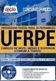 Apostila Concurso UFRPE 2018 | CARGOS DE NÍVEL MÉDIO E SUPERIOR (COMUM A TODOS)
