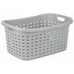 DenDesigns 12756A06 26 in. Cement Color Weave Laundry Basket DE138491