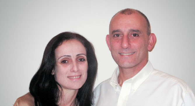 Arab Christians Reem and Imad Younis started their own neurosurgery products business in Nazareth. Photo: courtesy