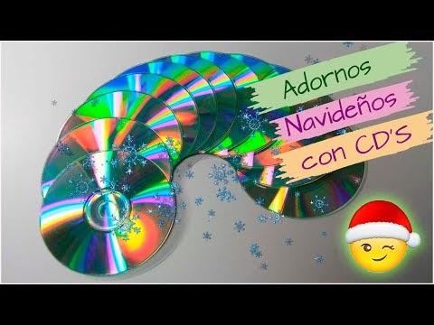 ¡¡¡Con CD'S ✅10 ideas FACILES y rápidas para NAVIDAD!!. Adornos navideño...