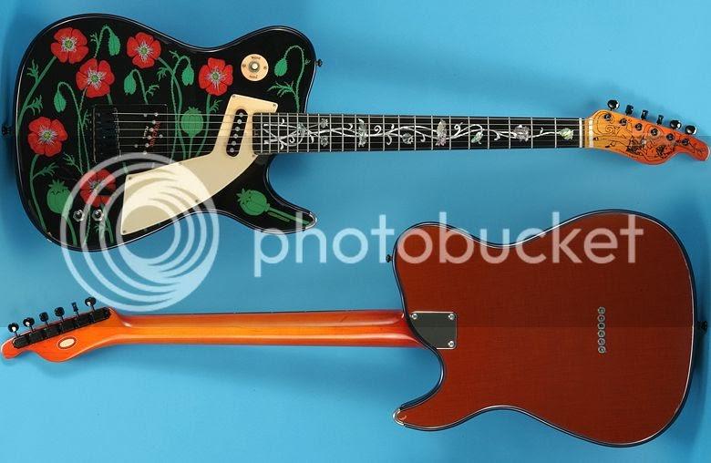 guitar blog vintage rare guitar of the week girl brand opium girl poppy festooned t type guitar. Black Bedroom Furniture Sets. Home Design Ideas