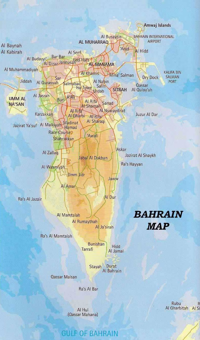 Maps of Bahrain | De