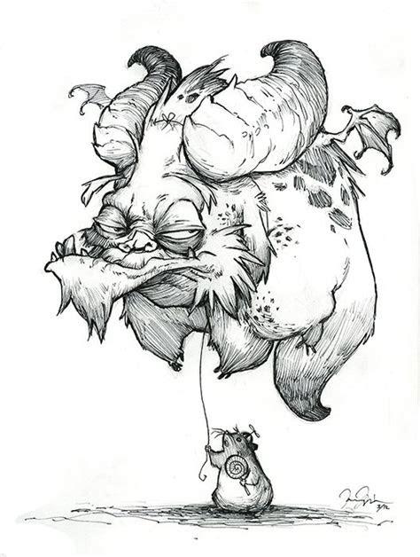 monster drawings  pencil balloon monster sketchbook