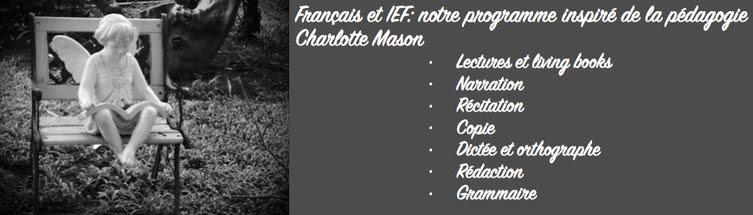 Français et IEF: notre programme inspiré Charlotte Mason