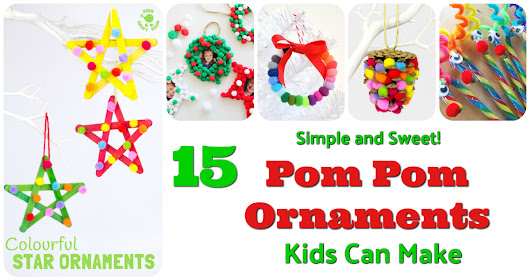 Pom Pom Ornaments Kids Can Make! | Letters from Santa Blog