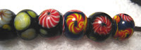 Native Beads of Sarawak - Old and New - Lukut (Rosette beads)