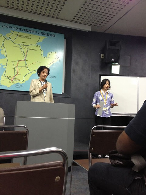 Listening to a war survivor recount heart-rending memories, at the Himeyuri Peace Memorial Museum (Iphone 4S photo)