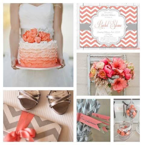27 best images about Party Decoration in coral, grey