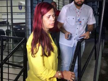Monstro, um monstro, disse delegada sobre o suspeito do crime (Foto: Vitor Tavares/G1)