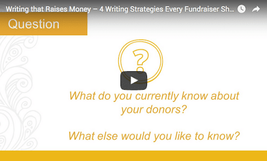 [VIDEO] 4 Writing Strategies Every Fundraiser Should Know