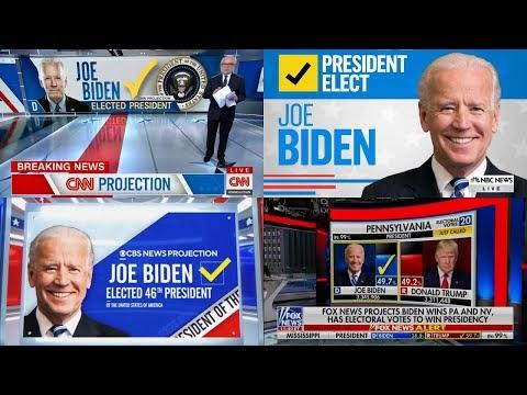 """צפו ברגעי ההכרזה על ניצחונו של ג'ו ביידן בבחירות לנשיאות ארה""""ב"""