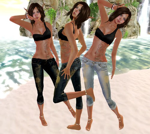 ::HH:: Hucci Gold Denim Capri
