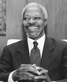 Kofi Annan. Reproduced by permission of Archive Photos, Inc.