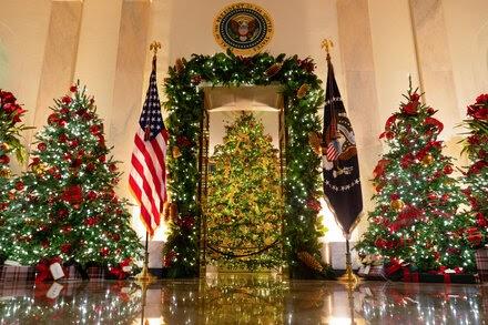 Los adornos navideños de la Casa Blanca lucen sorprendentemente normales