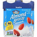 Almond Breeze - Almond Milk - Vanilla - Case Of 6 - 4/8 Oz.