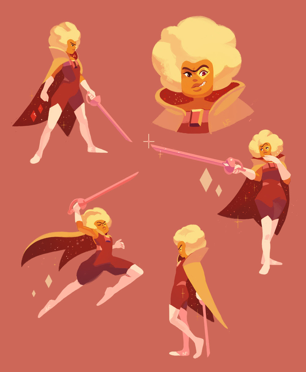 Hessonite doodles from Save the Light! I like her!