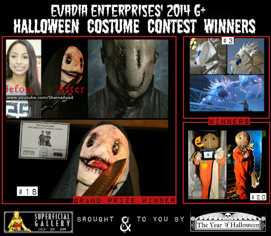 The Great Evadia 2014 Halloween Costume Contest Winners & Reader's Choice Awards
