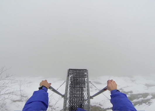 Watch This Athlete Base Jumping Into The Foggy Unknown