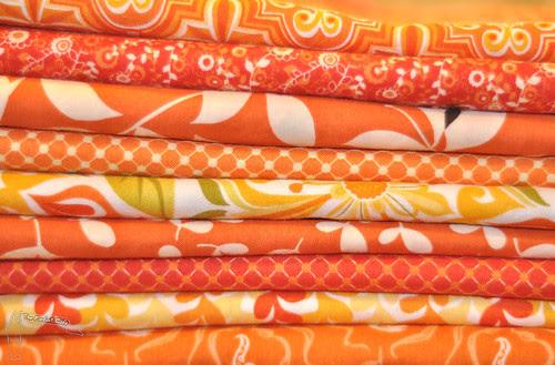A Blockwork Orange fabric selection