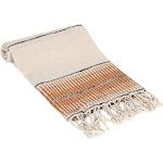 Amber Linen Turkish Hand / Kitchen Towel, Tobacco / 1