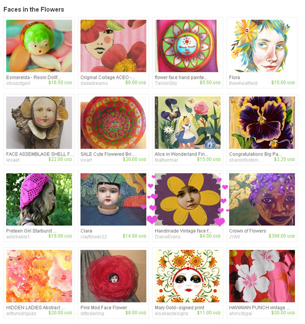 Faces in the flowers