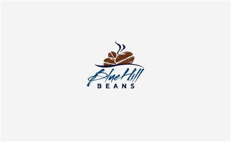 blue hill beans coffee logo design typework studio