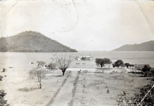 BOAC Short Solent flying boat, Cape Maclear, Lake Malawi (Lake Nyasa). 1949 or 1950.