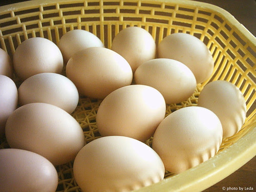 Eggs in yellow basket