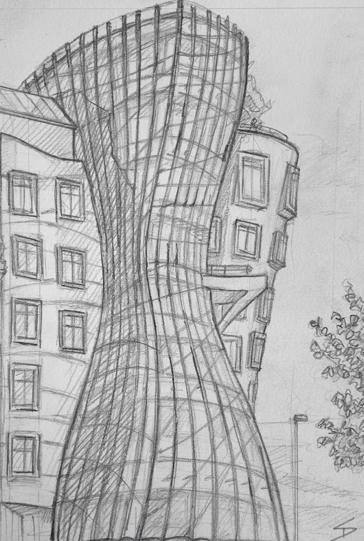 Quick Sketch. 'Dancing House, Prague.'