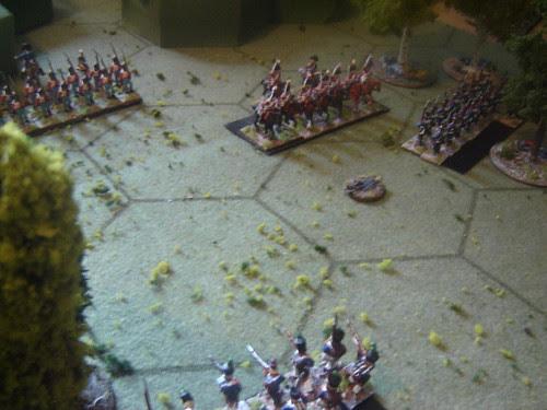 British Dragoons threaten French right