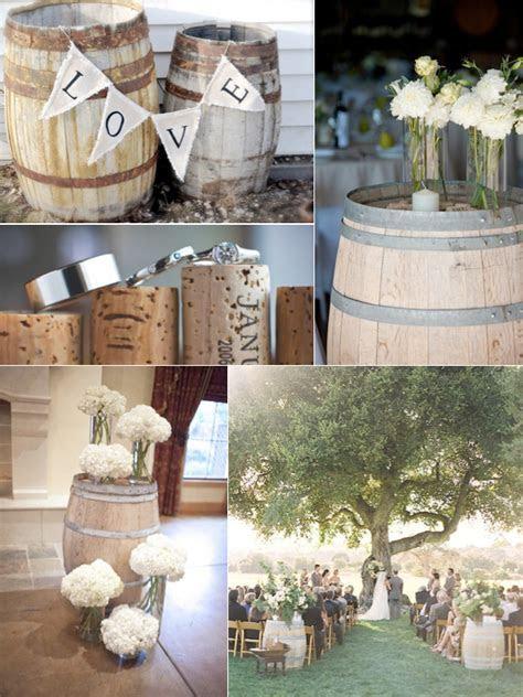 Wine Barrel Wedding Decor   Weddings By Lilly