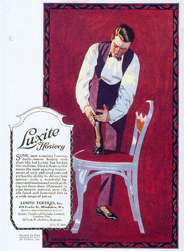Coles Phillips, Luxite Hosiery ad, 1919