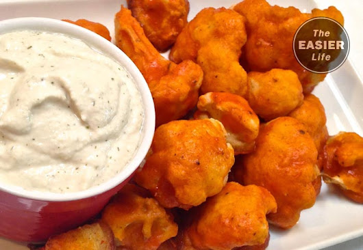 Buffalo Cauliflower Wings With Blue Cheese