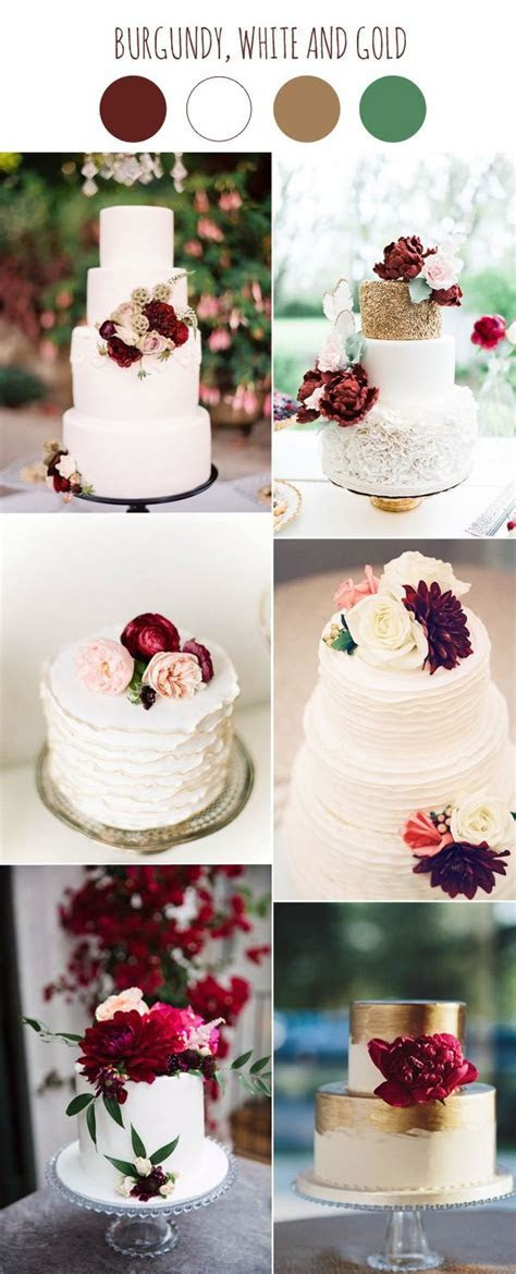 2017 Wedding Color Scheme Trends: Burgundy and White